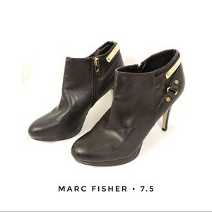 Marc Fisher Women's 7.5 Brown Ankle Boots Heeled
